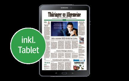 TA Digital zum Printabo<br/>inkl. Samsung-Tablet