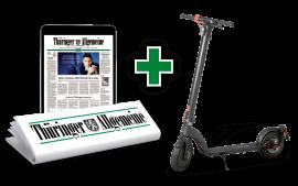 Jetzt 2 Wochen gratis testen und E-Roller gewinnen!